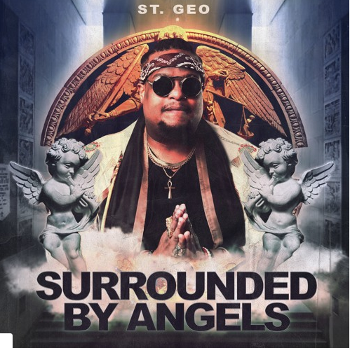 st. geo-surrounded by angels